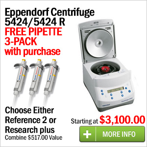 Eppendorf Centrifuge 5424 Free Pipette 3-Pack