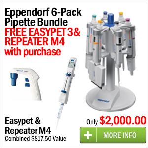 Eppendorf 6-Pack Pipette Bundle with Easypet 3 and Repeater M4