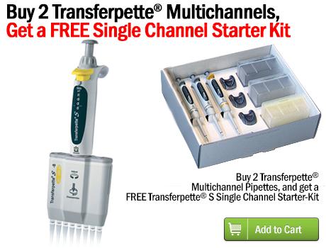 Buy 2 Transferpette® Multichannels,Get a FREE Single Channel Starter Kit