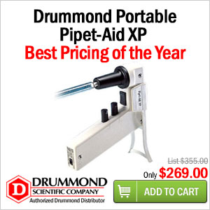 Drummond portable pipet-aid xp pipettes