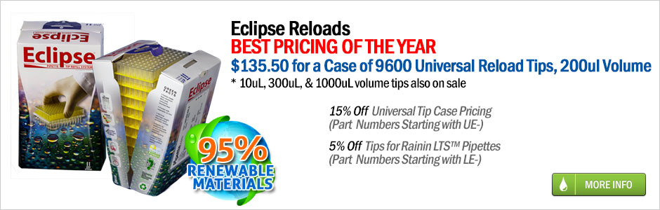 eclipse pipette tip reloads on sale at pipette.com