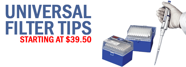universal filter tips at Pipette.com