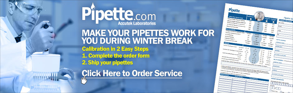 pipette calibration service by the experts - Pipette.com / Accutek Labs