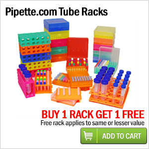 free tube racks when you purchase one tube rack of equal or greater value