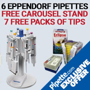 eppendorf pipettes bundle with free carousel and free tips