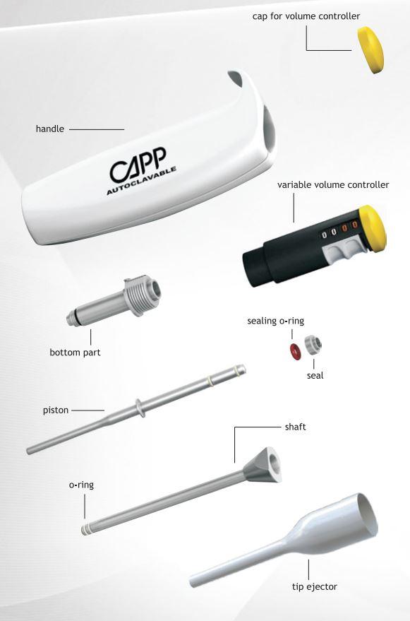 CappAero Single Channel Pipette_construction