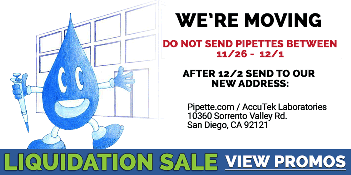 Pipette.com is Moving! Liquidation Sale