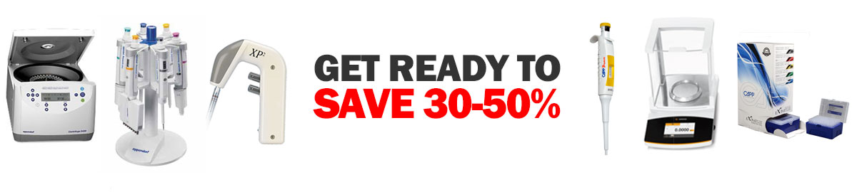 save 30-50% off select pipettes, tips and lab equipment