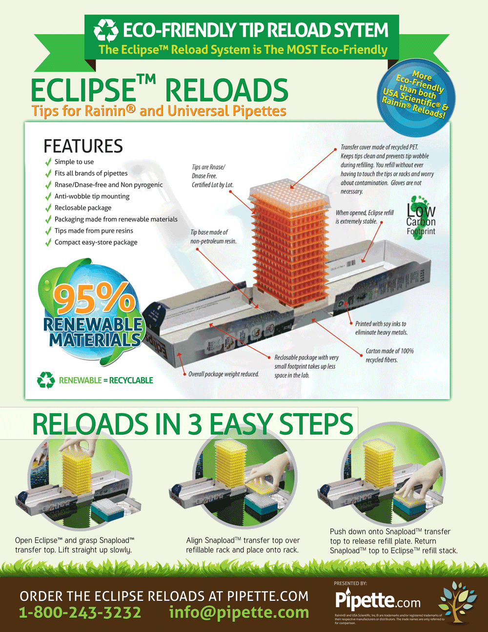 Eclipse Reload System for Pipette Tips