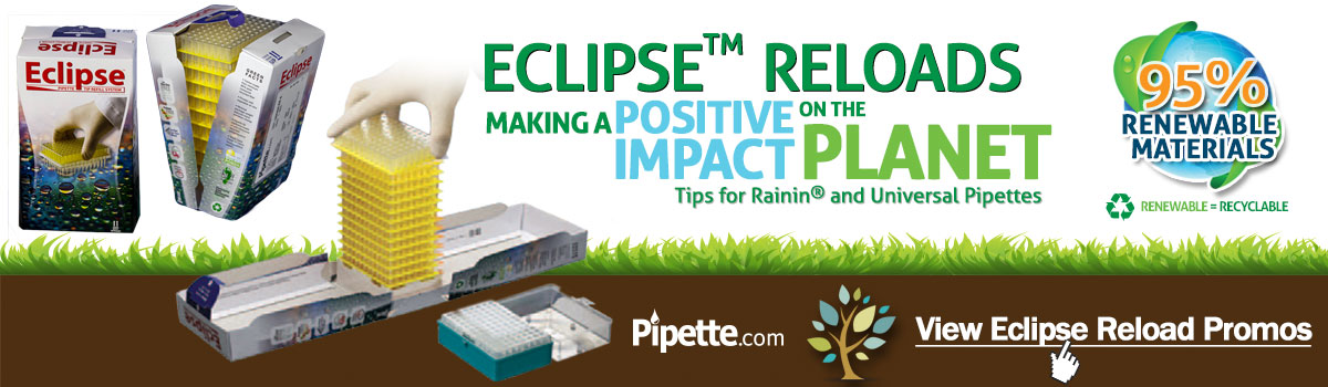 eco-friendly pipette tips eclipse reload system