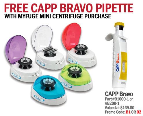 myfuge minicentrifuge free capp bravo