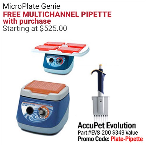 microplate Genie with free mulltichannel pipette