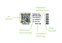 sample calibration label