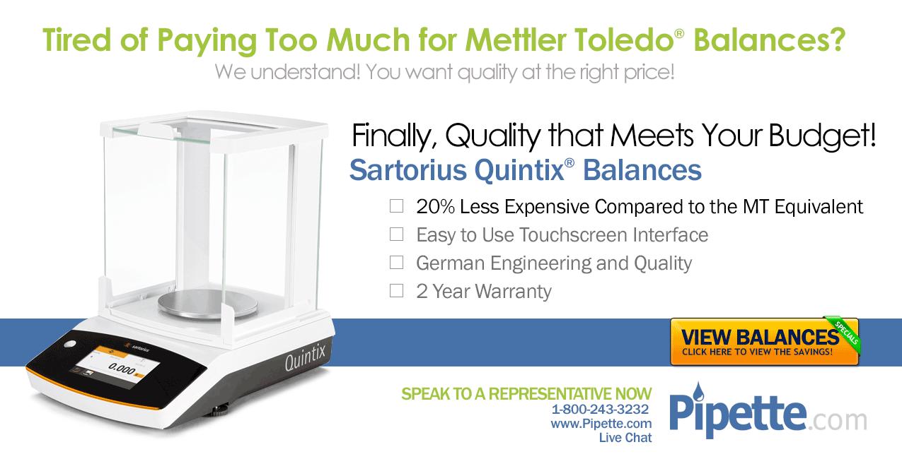 Mettler Toledo balances or Sartorius Quintix Balances?