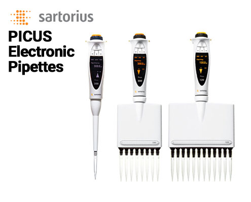 sartorius picus electronic pipettes can be found at Pipette.com