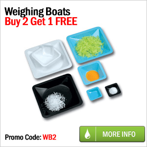 Get one weighing-boat pack for free, with purchase of 2 packs